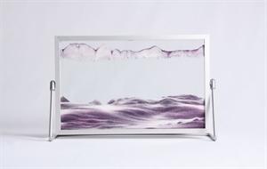 Obrazek A-032: Obrazek piaskowy oprawiony w ramę aluminiową (19x30 cm)