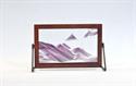 Obrazek W-023: Obrazek piaskowy oprawiony w ramę drewnianą (19x30 cm)